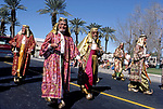 Costumed participants in the Indio Date Festival