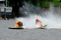 Frame 9: 300-P comes together with 911-Q, turns away and then is ejected from the boat.   (Outboard Hydroplanes)
