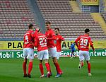 Fussball - 3.Bundesliga - Saison 2020/21<br /> Kaiserslautern -  Fritz-Walter-Stadion 07.04.2021<br /> 1. FC Kaiserslautern (fck)  - FSV Zwickau (zwi) 2:2<br /> Jubel nach dem Ausgleich zum 1:1 durch Philipp HERCHER (1. FC Kaiserslautern)  , Nr. 23<br /> <br /> Foto © PIX-Sportfotos *** Foto ist honorarpflichtig! *** Auf Anfrage in hoeherer Qualitaet/Aufloesung. Belegexemplar erbeten. Veroeffentlichung ausschliesslich fuer journalistisch-publizistische Zwecke. For editorial use only. DFL regulations prohibit any use of photographs as image sequences and/or quasi-video.