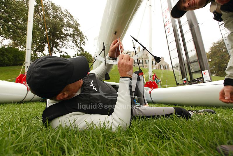 CClass World 2010 Day one..Alpha .        AUS 001 .Glenn Ashby .Jimmy Spithill