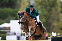 3rd October 2021;  Real Club de Polo, Barcelona, Spain; CSIO5 Longines FEI Jumping Nations Cup Final 2021; Cortizo Goncalvez de Azevedo Filho from Brazil during the FEI Jumping Nations Cup Final 2021