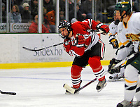 19 January 2008: Northeastern University Huskies' forward Chris Donovan, a Sophomore from Fairfax Station, VA, in action against the University of Vermont Catamounts at Gutterson Fieldhouse in Burlington, Vermont. The Catamounts defeated the Huskies 5-2 to close out their 2-game weekend series...Mandatory Photo Credit: Ed Wolfstein Photo