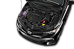 Car Stock 2016 Scion iM 5 Door Hatchback Engine high angle detail view
