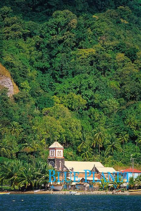 old church at Soufriere, Dominica, West Indies (Eastern Caribbean), Atlantic