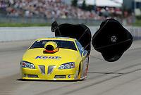 May 22, 2011; Topeka, KS, USA: NHRA pro stock driver Rodger Brogdon during the Summer Nationals at Heartland Park Topeka. Mandatory Credit: Mark J. Rebilas-