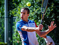 Hilversum, The Netherlands,  August 18, 2020,  Tulip Tennis Center, NKS, National Senior Championships, Men's single 35 + ,  	<br /> Bennie van Es (NED) <br /> Photo: www.tennisimages.com/Henk Koster