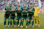 Real Betis Balompie's team photo during La Liga match between CD Leganes and Real Betis Balompie at Butarque Stadium in Madrid, Spain. February 10, 2019. (ALTERPHOTOS/A. Perez Meca)
