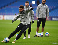 26th December 2020; Cardiff City Stadium, Cardiff, Glamorgan, Wales; English Football League Championship Football, Cardiff City versus Brentford; Josh Murphy of Cardiff City shoots during warm up