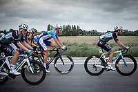 Niki Terpstra (NED/Total - Direct Energie) in front of the bunch. <br /> <br /> GP Marcel Kint 2019 (BEL)<br /> One Day Race: Kortrijk – Zwevegem 188.10km. (UCI 1.1)<br /> Bingoal Cycling Cup 2019