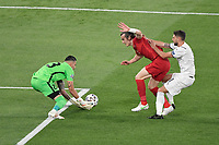 Caglar Soyuncu and Ugurcan Cakırof Turkey and Domenico Berardi of Italy during the Uefa Euro 2020 Group stage - Group A football match between Turkey and Italy at stadio Olimpico in Rome (Italy), June 11th, 2021. Photo Andrea Staccioli / Insidefoto