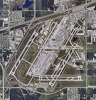 aerial photograph Detroit Metropolitan Airport, Michigan
