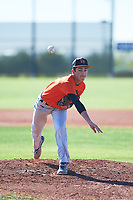 Tyler Henrich (50), from Venus, Texas, while playing for the Orioles during the Under Armour Baseball Factory Recruiting Classic at Red Mountain Baseball Complex on December 28, 2017 in Mesa, Arizona. (Zachary Lucy/Four Seam Images)