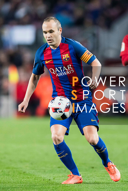 Andres Iniesta Lujan of FC Barcelona in action during their Copa del Rey 2016-17 Semi-final match between FC Barcelona and Atletico de Madrid at the Camp Nou on 07 February 2017 in Barcelona, Spain. Photo by Diego Gonzalez Souto / Power Sport Images