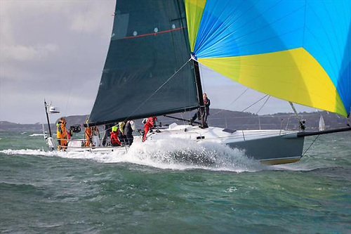 Two is better than one. For the D2D, Andrew Hall of Pwllheli has entered both his J/125 Jack Knife (above)……….