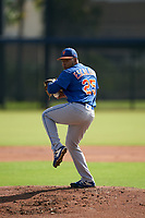 GCL Mets pitcher Jhonfran Escalona (25) during a Gulf Coast League game against the GCL Astros on August 10, 2019 at FITTEAM Ballpark of the Palm Beaches Training Complex in Palm Beach, Florida.  GCL Astros defeated the GCL Mets 8-6.  (Mike Janes/Four Seam Images)