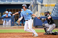 FCL Rays Tanner Murray (53) bats during a game against the FCL Pirates Black on August 3, 2021 at Charlotte Sports Park in Port Charlotte, Florida.  (Mike Janes/Four Seam Images)