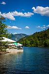 Deutschland, Bayern, Oberbayern, Berchtesgadener Land, bei Bad Reichenhall: Seewirt am Thumsee | Germany, Upper Bavaria, Berchtesgadener Land, near Bad Reichenhall: restaurant Seewirt at lake Thumsee
