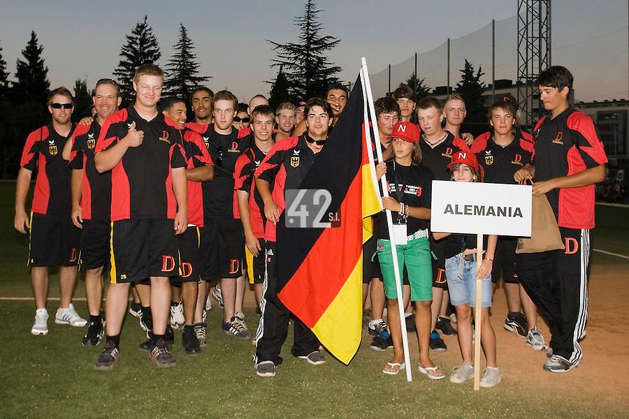 BASEBALL - EUROPEAN UNDER -21 CHAMPIONSHIP - PAMPELUNE (ESP) - 03 TO 07/09/2008 - PHOTO : CHRISTOPHE ELISE .CLOSING CEREMONY -  TEAM GERMANY