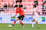 Kim Minjae of South Korea in action during the AFC Asian Cup UAE 2019 Round of 16 match between South Korea (KOR) and Bahrain (BHR) at Rashid Stadium on 22 January 2019 in Dubai, United Arab Emirates. Photo by Marcio Rodrigo Machado / Power Sport Images