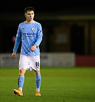 Manchester City U21's Ben Knight<br /> <br /> Photographer Chris Vaughan/CameraSport<br /> <br /> EFL Papa John's Trophy - Northern Section - Group E - Lincoln City v Manchester City U21 - Tuesday 17th November 2020 - LNER Stadium - Lincoln<br />  <br /> World Copyright © 2020 CameraSport. All rights reserved. 43 Linden Ave. Countesthorpe. Leicester. England. LE8 5PG - Tel: +44 (0) 116 277 4147 - admin@camerasport.com - www.camerasport.com