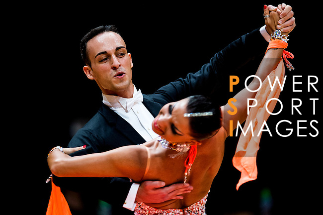 Francesco Galuppo and Debora Pacini of Italy during the WDSF GrandSlam Standard on the Day 2 of the WDSF GrandSlam Hong Kong 2014 on June 01, 2014 at the Queen Elizabeth Stadium Arena in Hong Kong, China. Photo by AItor Alcalde / Power Sport Images