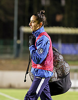 Rania Boutiebi (17) of AA Gent pictured before a female soccer game between FC Femina White Star Woluwe and AA Gent Ladies on the 13 th matchday of the 2020 - 2021 season of Belgian Scooore Womens Super League , friday 5 th of February 2021  in Woluwe , Belgium . PHOTO SPORTPIX.BE | SPP | SEVIL OKTEM