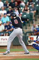 Sacramento River Cats outfielder Grant Green #8 at bat during the Pacific Coast League baseball game against the Round Rock Express on May 24, 2012 at the Dell Diamond in Round Rock, Texas. The Express defeated the River Cats 5-3. (Andrew Woolley/Four Seam Images).
