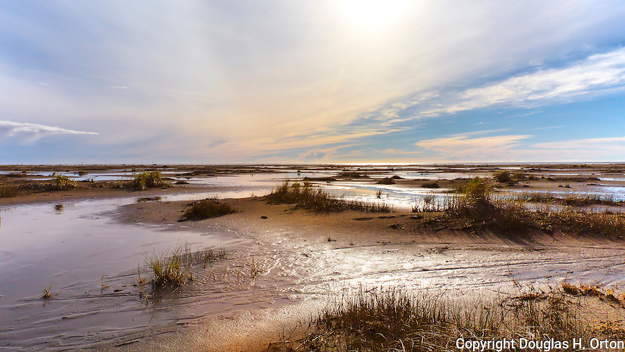 Graylend Beach, State Park, Tokeland Beach, on the central Washington Paciific Coast south of Westport, is flooded by rain making for an unusual landscape of water in the sand dunes.