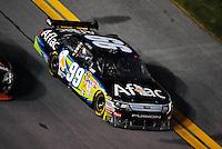 Feb 07, 2009; Daytona Beach, FL, USA; NASCAR Sprint Cup Series driver Carl Edwards during the Bud Shootout at Daytona International Speedway. Mandatory Credit: Mark J. Rebilas-