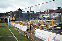 Underhill Stadium, home of Barnet FC, pictured in February 1996 - Gavin Ellis/TGSPHOTO - Self billing applies where appropriate - 0845 094 6026 - contact@tgsphoto.co.uk - NO UNPAID USE..