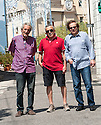 Three of the members who created the original Beatles Tribute Act in Picinisco, Italy, after hearing records brought over from Glasgow.
