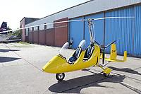 Gyrokopter auf dem Flughafen von Wangerooge - Wangerooge 20.07.2020: Flug nach Wangerooge