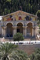 Asie/Israël/Judée/Jérusalem:Façade de l'église de Toutes les nations de Jérusalem