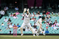 8th January 2021; Sydney Cricket Ground, Sydney, New South Wales, Australia; International Test Cricket, Third Test Day Two, Australia versus India; Manish Pandey of India catches the ball as Steve Smith of Australia makes his ground