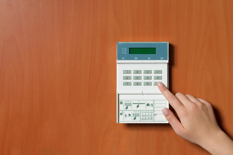 touchpanel to activate the electronic alarm system