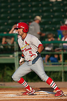 Niko Vasquez of the Palm Beach Cardinals during the game at Jackie Robinson Ballpark in Daytona Beach, Florida on July 30, 2010. Photo By Scott Jontes/Four Seam Images