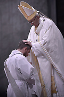 Pope Francis,ordained new priests ceremony in St.Peter Basilica at the Vatican. May 7, 2017