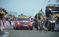 Laurens Ten Dam (NLD) fighting up the last meters up Mont Ventoux<br /> <br /> Tour de France 2013<br /> stage 15: Givors to Mont Ventoux, 242,5km