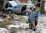 """THIS PHOTO IS AVAILABLE AS A PRINT OR FOR PERSONAL USE. CLICK ON """"ADD TO CART"""" TO SEE PRICING OPTIONS.   Roma children in Srbobran, Serbia."""