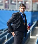 15.05.2021 Rangers v Aberdeen: Steven Gerrard saoked in champagne