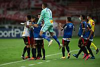 10th February 2021; Beira-Rio Stadium, Porto Alegre, Brazil; Brazilian Serie A, Internacional versus Sport Recife; Players of Sport Recife celebrate <br />  their goal scored by Marcao in the 38th minute 0-1