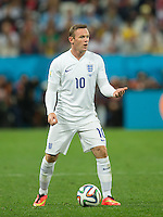 Wayne Rooney of England looks shocked