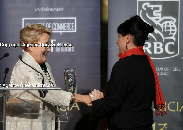 Pauline Marois  au<br /> 13 ieme Gala Phenicia , 25 mai 2017<br /> <br /> PHOTO :  Agence Québec Presse