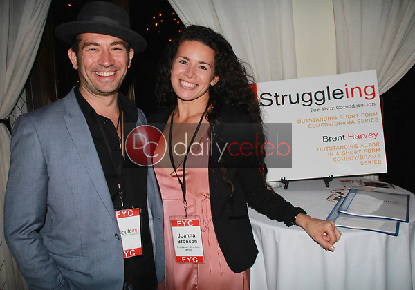 """Brent Harvey, Joanna Bronson<br /> at the """"Struggleing"""" For Your Consideration event hosted by A. Whole Productions and Brent Harvey Films, Crossroads Kitchen, Los Angeles, CA 06-06-18<br /> David Edwards/DailyCeleb.com 818-249-4998"""