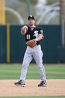Omar Vizquel. Chicago White Sox spring training game vs. Oakland Athletics at Phoenix Municipal Stadium, Phoenix, AZ - 03/10/2010.Photo by:  Bill Mitchell/Four Seam Images.