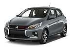 2020 Mitsubishi Space-Star Red-Line-Edition 5 Door Hatchback Angular Front automotive stock photos of front three quarter view