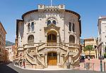 Fuerstentum Monaco, an der Côte d'Azur, Stadtteil Monaco-Ville: Palais de Justice - Justizpalast | Principality of Monaco, on the French Riviera (Côte d'Azur), district Monaco-Ville: law courts
