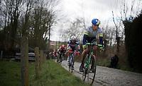 Jens Keukeleire (BEL/Orica-GreenEDGE) up the Taaienberg<br /> <br /> 71st Dwars door Vlaanderen (1.HC)