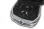 Car Stock 2017 Mercedes Benz S-Class - 2 Door Coupe Engine  high angle detail view