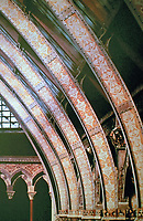 Oxford University Museum of Natural History. Arched columns with Gothic design. Oxford, England.